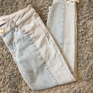 American Eagle two tone jegging crops